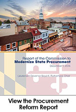 Report from the Commission to Modernize State Procurement