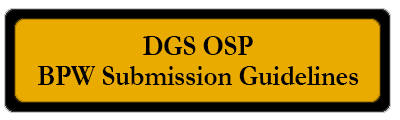 DGS OSP BPW Submission Guidelines