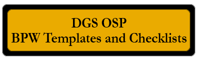 DGS OSP BPW Templates and Checklists