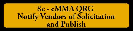 8c - eMMA QRG - Notify Vendors of Solicitation and Publish
